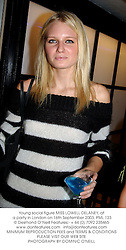Young social figure MISS LOWELL DELANEY, at a party in London on 16th September 2003.PML 123