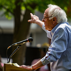 """Lancaster, PA, USA - May 5, 2018: US Senator Bernard """"Bernie"""" Sanders from Vermont makes an appearance to campaign for Jess King, Democrat congressional candidate."""