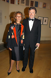 LORD & LADY HOLLICK at The Royal Academy dinner before the official opening of the Summer Exhibition held at the Royal Academy of Art, Burlington House, Piccadilly, London W1 on 6th June 2006.<br /><br />NON EXCLUSIVE - WORLD RIGHTS