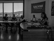 Susanna Ceccaldi durante una riunione nella sede della Lega a Firenze