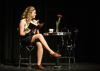 GHS All In The Timing - six short comedies - dress rehearsal.  Karen Bobotas for the Laconia Daily Sun