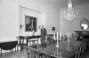 19/08/1966<br /> 08/19/1966<br /> 19 August 1966<br /> United States Ambassador's residence, Phoenix Park, Dublin. Ambassador Raymond Guest in the Dinning room.