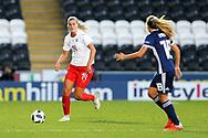 Rahel Kiwic (#14) of Switzerland ont he ball during the 2019 FIFA Women's World Cup UEFA Qualifier match between Scotland Women and Switzerland at the Simple Digital Arena, St Mirren, Scotland on 30 August 2018.