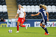 Rahel Kiwic (#14) of Switzerland ont he ball during the 2019 FIFA Women's World Cup UEFA Qualifier match between Scotland Women and Switzerland at the Simple Digital Arena, St Mirren, Scotland on 30 August 2018.