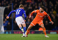 Ipswich Town's Jon Nolan is fouled by Blackpool's Ryan Edwards<br /> <br /> Photographer Chris Vaughan/CameraSport<br /> <br /> The EFL Sky Bet League One - Ipswich Town v Blackpool - Saturday 23rd November 2019 - Portman Road - Ipswich<br /> <br /> World Copyright © 2019 CameraSport. All rights reserved. 43 Linden Ave. Countesthorpe. Leicester. England. LE8 5PG - Tel: +44 (0) 116 277 4147 - admin@camerasport.com - www.camerasport.com