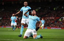 Manchester City's Nicolas Otamendi celebrates scoring his side's second goal of the game