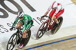 March 1, 2019 - Pruszkow, Poland - Shannon Mccurley (IRL) Daria Pikulik (POL) omnium tempo race on day three of the UCI Track Cycling World Championships held in the BGZ BNP Paribas Velodrome Arena on March 01, 2019 in Pruszkow, Poland. (Credit Image: © Foto Olimpik/NurPhoto via ZUMA Press)