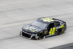 October 5, 2018 - Dover, DE, U.S. - DOVER, DE - OCTOBER 05: Jimmie Johnson driver of the #48 Lowe's for Pros Chevrolet during practice for the Monster Energy NASCAR Cup Series Gander Outdoors 400 on October 05, 2018, at Dover International Speedway in Dover, DE. (Photo by David Hahn/Icon Sportswire) (Credit Image: © David Hahn/Icon SMI via ZUMA Press)