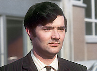 Patrick J McHugh, candidate, N Ireland Labour Party, Bannside constituency, by-election, N Ireland Parliament, March, 1970, 197003180101<br /> <br /> Copyright Image from Victor Patterson, 54 Dorchester Park, Belfast, UK, BT9 6RJ<br /> <br /> t1: +44 28 9066 1296<br /> t2: +44 28 9002 2446<br /> m: +44 7802 353836<br /> <br /> e1: victorpatterson@me.com<br /> e2: victorpatterson@gmail.com<br /> <br /> IMPORTANT: My Terms and Conditions of Business are at www.victorpatterson.com