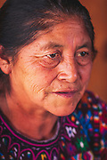 Lady selling chillis in the market of Chichicastanago, Guatemala