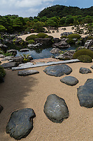 "The Adachi Museum of Art was based on the private collection of Zenko Adachi.  Adachi collected Japanese paintings, ceramics and scrolls.  Adachi himself was an aficionado of Japanese gardens and collected each pine tree and each stone for the garden himself from around Japan.   In this way he created a beautiful garden filled with his own vision and passion.  Adachi believed that Japanese gardens were ""as beautiful as pictures"" and even framed one of the gardens in one of the museums rooms as if it is a painting itself. Adachi Museum Garden has been selected as the best garden in Japan year after year since 2003, by the Journal of Japanese Gardens Shisai Project."