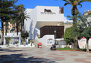 Municipal theatre Paseo Alameda pedestrianised street, Tarifa, Cadiz province, Spain