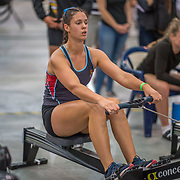 Beckie Leigh FEMALE HEAVYWEIGHT U17 1K Race #8  11:00am<br /> <br /> <br /> www.rowingcelebration.com Competing on Concept 2 ergometers at the 2018 NZ Indoor Rowing Championships. Avanti Drome, Cambridge,  Saturday 24 November 2018 © Copyright photo Steve McArthur / @RowingCelebration