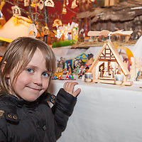 Sadhbh O'Connell from Miltown Malbay with the many nativity cribs on display in Liscannor Church
