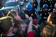 CHP officers clash with protesters as they try to get on Interstate 5 in downtown Sacramento on Saturday, May 30, 2020. Protesters reacted on Saturday to the death of Minneapolis man George Floyd.