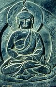 Buddha carved in Mani stone, Khumbu Himal, Nepal Himalaya