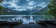 Stormy eve at Sliver Lake Dock