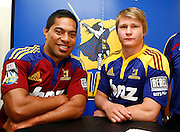 Highlanders players Alando Soakai (L) and Robbie Robinson. Super 14 rugby union. 2010 Rebel Sport Super 14 New Zealand squads naming press conference. Auckland, New Zealand. Wednesday 11 November 2009. © Copyright Photo: www.photosport.nz