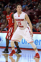 29 November 2014:  Justin McCloud during an NCAA men's basketball game between the Youngstown State Penguins and the Illinois State Redbirds  in Redbird Arena, Normal IL.