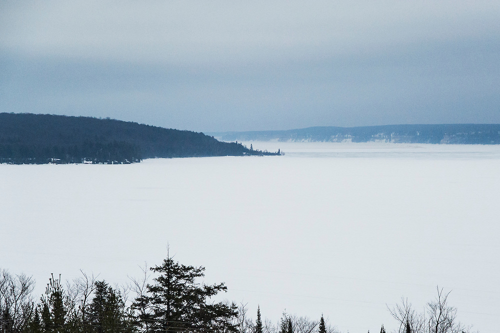 View of Munising Bay and Grand Island from The Holiday Inn Express-Lakeview of Munising, Michigan.