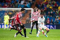 "Real Madrid's Francisco Roman ""Isco"" and Athletic de Bilbao's Mikel Rico and Xabier Etxeita during La Liga Match at Santiago Bernabeu Stadium in Madrid. October 23, 2016. (ALTERPHOTOS/Borja B.Hojas)"