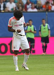 Football: Liga Total Cup 2012, FC Bayern Muenchen, Hamburg, 05.08.2012.Dante lost his shoes.©Êpixathlon