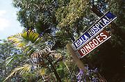 Direction sign at Koala bear sanctuary near Sydney, New South Wales, Australia