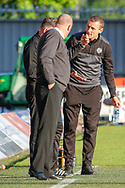 Oran Kearney St Mirren Manager & Hamilton Academicals Head Coach Brian Rice during the Ladbrokes Scottish Premiership match between St Mirren and Hamilton Academical FC at the Paisley 2021 Stadium, St Mirren, Scotland on 13 May 2019.
