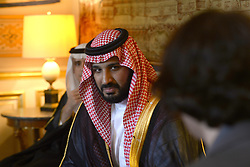 """File photo - French Foreign Affairs Minister Jean-Marc Ayrault receives Saudi Deputy Crown Prince Mohammed Bin Salman Bin Abdelaziz Al Saud (also known as MBS), at the """"Quai d'Orsay"""" ministry in Paris, France on June 27, 2016. Saudi Arabia's king has appointed his son Mohammed bin Salman as crown prince - replacing his nephew, Mohammed bin Nayef, as first in line to the throne. Prince Mohammed bin Nayef, 57, has been removed from his role as head of domestic security, state media say. Photo by Ammar Abd Rabbo/ABACAPRESS.COM"""