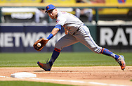 CHICAGO - AUGUST 01:  Todd Frazier #21 of the New York Mets fields against the Chicago White Sox August 1, 2019 at Guaranteed Rate Field in Chicago, Illinois.  (Photo by Ron Vesely)  Subject:   Todd Frazier