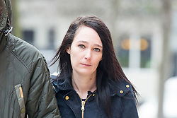 © Licensed to London News Pictures. 24/02/2016. Leeds UK. Kim Ager arrives at Leeds Magistrates court this morning for sentence. Ager admitted handling stolen goods worth £3234 & her former partner Matthew Ingham was found guilty of theft. The couple stole laptops & video equipment from the Leeds General Infirmary cancer ward where their son Callum was being treated for Neuroblastoma, a cancer which attacks the nervous system. Photo credit: Andrew McCaren/LNP