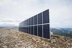 Northwestel Engineer Creek Solar Sit near Engineer Creek, North Yukon