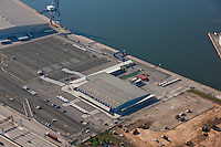 Aerial photo of the Port Administraiton Maryland Cruise terminal at South Locust Point