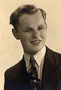 vintage photograph of a young man.