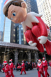 November 22, 2018 - New York, New York, U.S - The Elf on the Shelf made his annual appearance at the Macy's Thanksgiving Day Parade today in New York. (Credit Image: © Staton Rabin/ZUMA Wire)