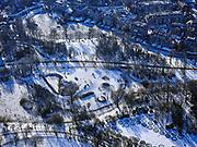 Nederland, Noord-Holland, Amsterdam, 13-02-2021; schaatsers op de vijvers in het Vondelpark.<br /> Ice skaters on the ponds in the Vondelpark.<br /> <br /> luchtfoto (toeslag op standaard tarieven);<br /> aerial photo (additional fee required)<br /> copyright © 2021 foto/photo Siebe Swart