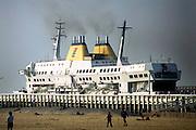 Ostend, Belgium, Apr 13, 2007, Transeurope Ferries leaving the port of Ostend. PHOTO © Christophe Vander Eecken..