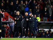 Chris Wilder manager of Sheffield Utd and the fourth official during the English League One match at Bramall Lane Stadium, Sheffield. Picture date: April 5th 2017. Pic credit should read: Simon Bellis/Sportimage