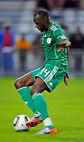 Fotball<br /> Nigeria v Saudi Arabia<br /> Wattens Østerrike<br /> 25.05.2010<br /> Foto: Gepa/Digitalsport<br /> NORWAY ONLY<br /> <br /> FIFA Weltmeisterschaft 2010 in Suedafrika, Vorberichte, Vorbereitung, Vorbereitungsspiel, Freundschaftsspiel, Laenderspiel, Nigeria vs Saudi-Arabien. <br /> <br /> Bild zeigt Sani Kaita (NGR).