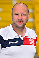 20150626 - LOKEREN, BELGIUM: Lokeren's head coach Bob Peeters pictured during the 2015-2016 season photo shoot of Belgian first league soccer team Sporting Lokeren, Friday 26 June 2015 in Lokeren. BELGA PHOTO LUC CLAESSEN