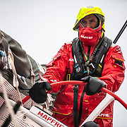 Leg 9, from Newport to Cardiff, day 05 on board MAPFRE, Blair Tuke steering. 24 May, 2018.