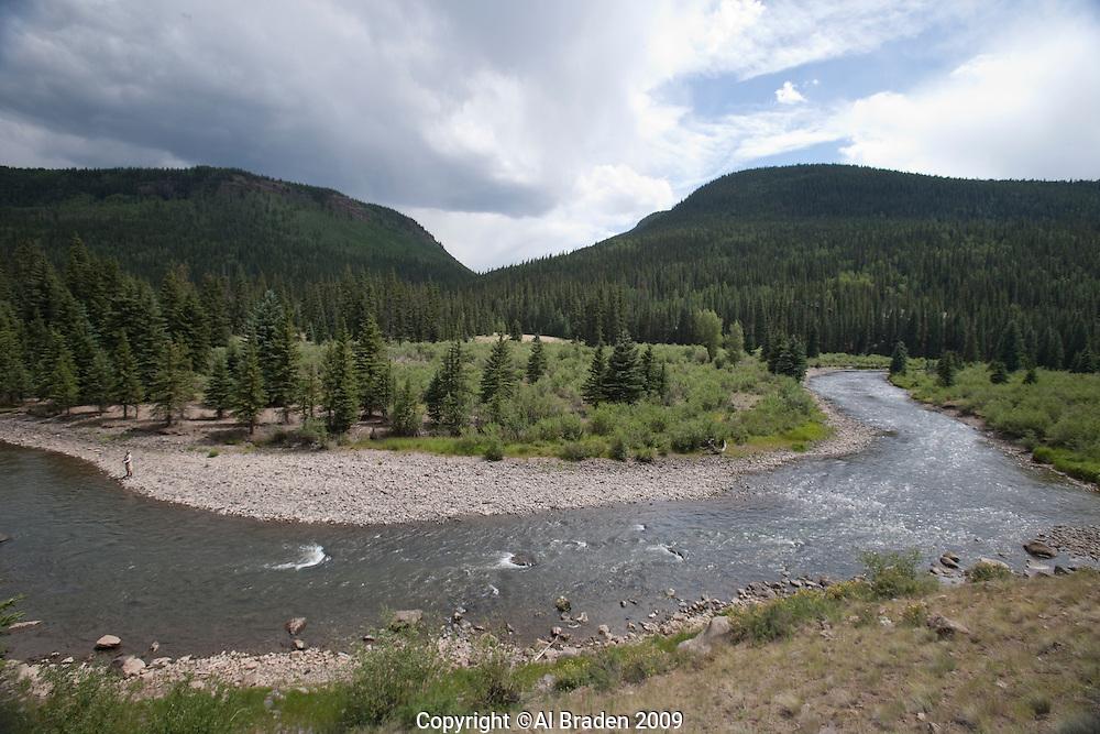 Rio Grande along FR 520 below reservoir, Hinsdale County, CO.