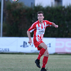 BRISBANE, AUSTRALIA - FEBRUARY 25: Matthew Heath of Olympic FC controls the ball during the NPL Queensland Senior Men's Round 1 match between Olympic FC and Brisbane Roar Youth at Goodwin Park on February 25, 2017 in Brisbane, Australia. (Photo by Patrick Kearney/Olympic FC)