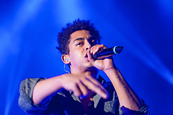 "© Licensed to London News Pictures. 01/03/2014. London, UK.   Rizzle Kicks performing live at Hammersmith Apollo. In this picture - Jordan Stephens.  Rizzle Kicks are an English hip hop duo from Brighton, consisting of Jordan ""Rizzle"" Stephens and Harley ""Sylvester"" Alexander-Sule.   Photo credit : Richard Isaac/LNP"