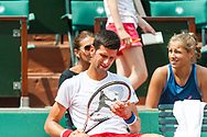 Djokovic training Ambiance during the Roland Garros French Tennis Open 2018, Preview, on May 21 to 26, 2018, at the Roland Garros Stadium in Paris, France - Photo Pierre Charlier / ProSportsImages / DPPI
