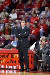 06 December 2008: Coach Tim Jankovich during a game where the  Illinois State University Redbirds extended their record to 9-0 with a 76-70 win over the Eagles of Morehead State on Doug Collins Court inside Redbird Arena on the campus of Illinois State University in Normal Illinois