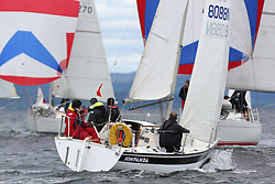 The Silvers Marine Scottish Series 2014, organised by the  Clyde Cruising Club,  celebrates it's 40th anniversary.<br /> Day 1, 8088N, Jon Panda, Tim Eltringham, FYC, Sonata<br /> <br /> Racing on Loch Fyne from 23rd-26th May 2014<br /> <br /> Credit : Marc Turner / PFM