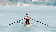 St Catherines, CANADA,   CAN M1X, Derek PORTER, competing at the 1999 World Rowing Championships - Martindale Pond, Ontario. 08.1999..[Mandatory Credit; Peter Spurrier/Intersport-images]    ...St Catherines, CANADA,   CAN M1X, Derek PORTER, competing at the 1999 World Rowing Championships - Martindale Pond, Ontario. 08.1999..[Mandatory Credit; Peter Spurrier/Intersport-images]    ... 1999 FISA. World Rowing Championships, St Catherines, CANADA