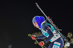February 12, 2018 - Pyeongchang, Gangwon, South Korea - Darya Klimina of Kazakhstan  competing at Women's 10km Pursuit, Biathlon, at olympics at Alpensia biathlon stadium, Pyeongchang, South Korea. on February 12, 2018. Ulrik Pedersen/Nurphoto  (Credit Image: © Ulrik Pedersen/NurPhoto via ZUMA Press)