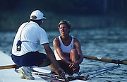 Banyoles, SPAIN, BRONZE Medalist,  CAN W1X SILKEN LAUMANN,  awards dock and competing in the 1992 Olympic Regatta, Lake Banyoles, Barcelona, SPAIN. 92 Gold Medalist.   [Mandatory Credit: Peter Spurrier: Intersport Images]